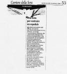 Articolo da Il Corriere Della Sera, Gala delle Margherite 2000