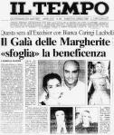Articolo da Il Tempo, Gala delle Margherite 2000