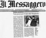 Articolo da Il Messaggero, Gala delle Margherite 2004