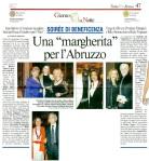 Articolo da Il Messaggero, Gala delle Margherite 2009